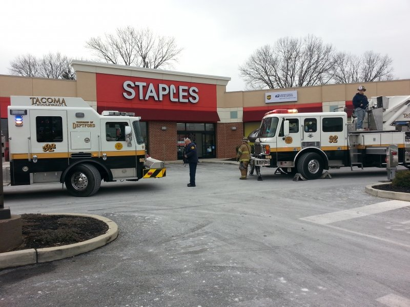 Electrical Fire at Staples On Deptford Center Road