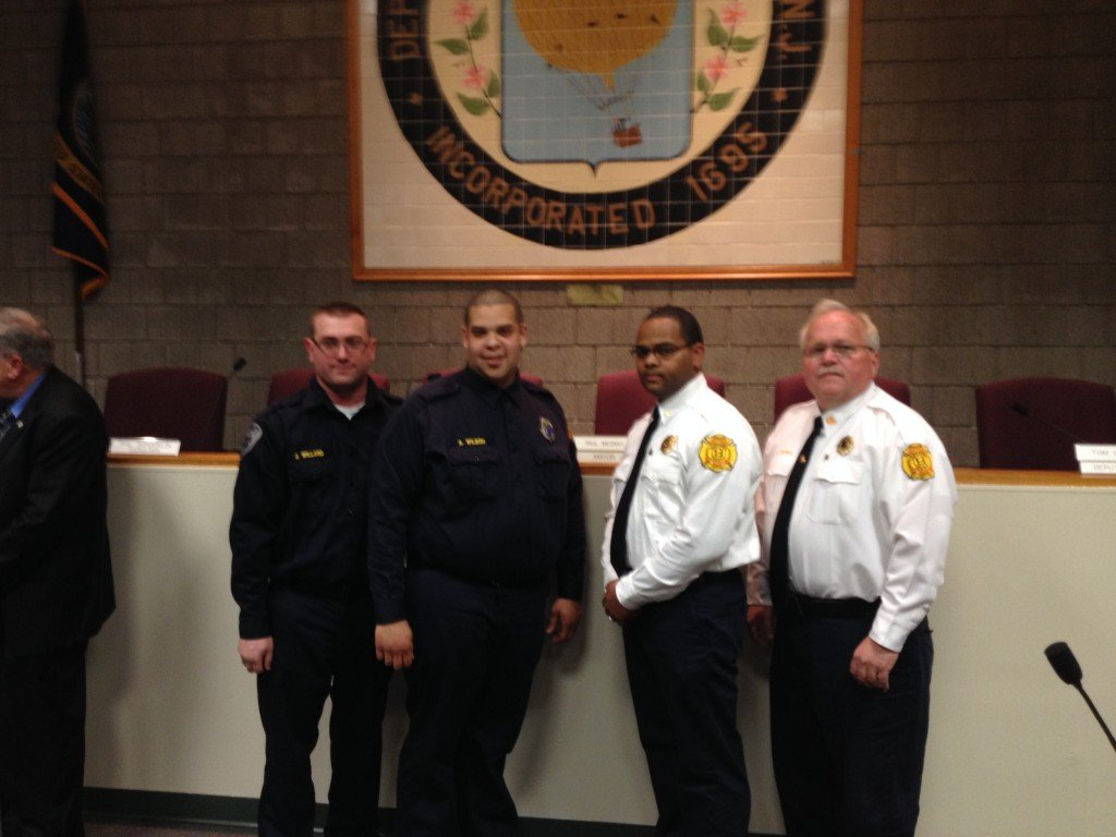 Deptford Fire Commissioners Along With Deptford Mayor and Council Honor Firefighters, Police Officers and EMS