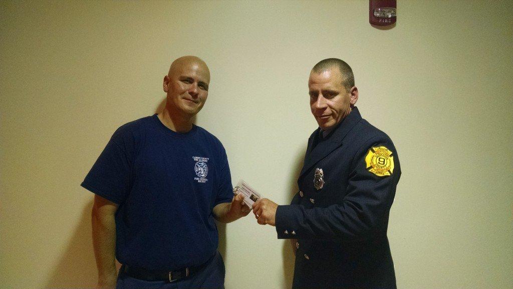 Steve McDermott Completes Firefighter One At Camden County Fire Academy