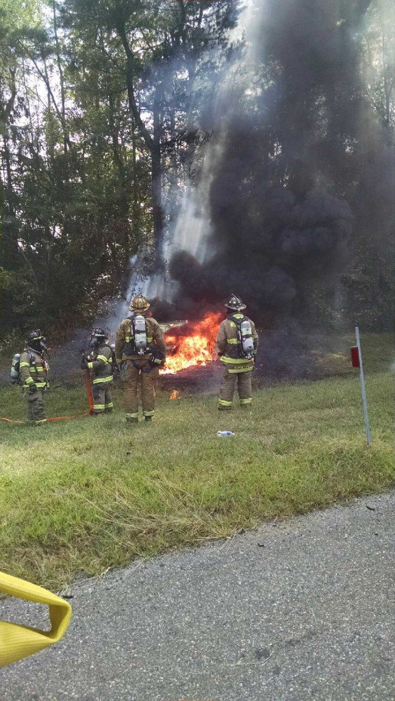 Motor Vehicle Crash With Fire on the New Jersey Turnpike
