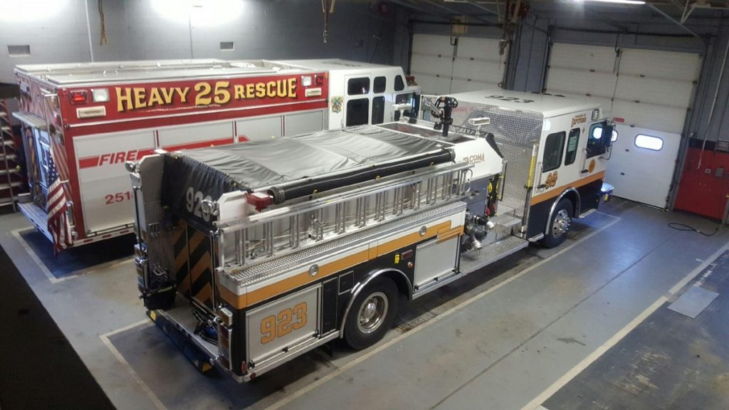 Engine 923 Covers Station 25-1 Woolwich Fire Company