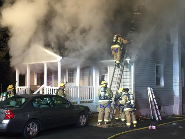 Working Dwelling Fire On Hayes Avenue with Rescue of Trapped Elderly Resident