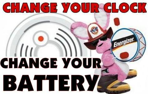 Change Your Clocks….Change Your Batteries  Sunday November 4th