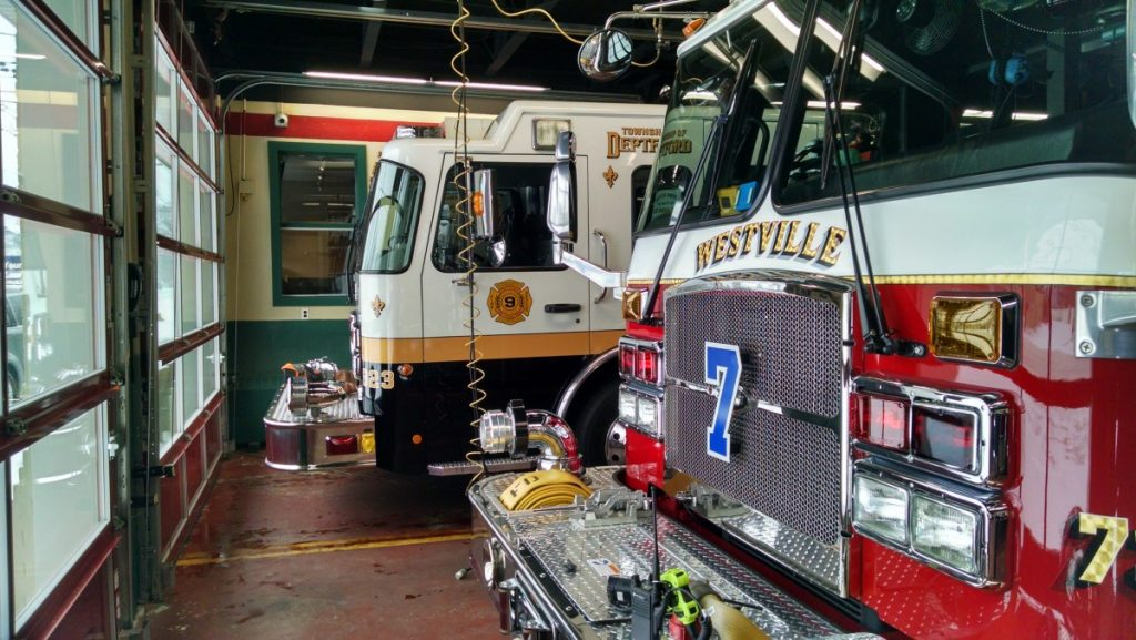 Engine 923 Provides Cover for Westville FD