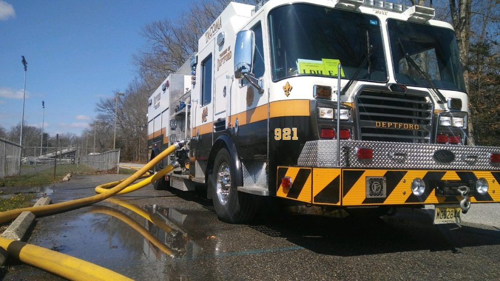 Squad 921 Participates In Large Diameter Hose Task Force Drill