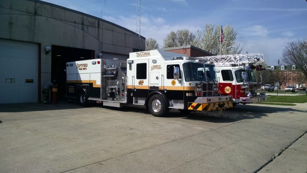Squad 921 Covers Gloucester City Fire Headquarters