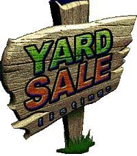 Yard Sale Sponsored by the Tacoma Fire Company and the Colonial Manor Fire Association September 29th