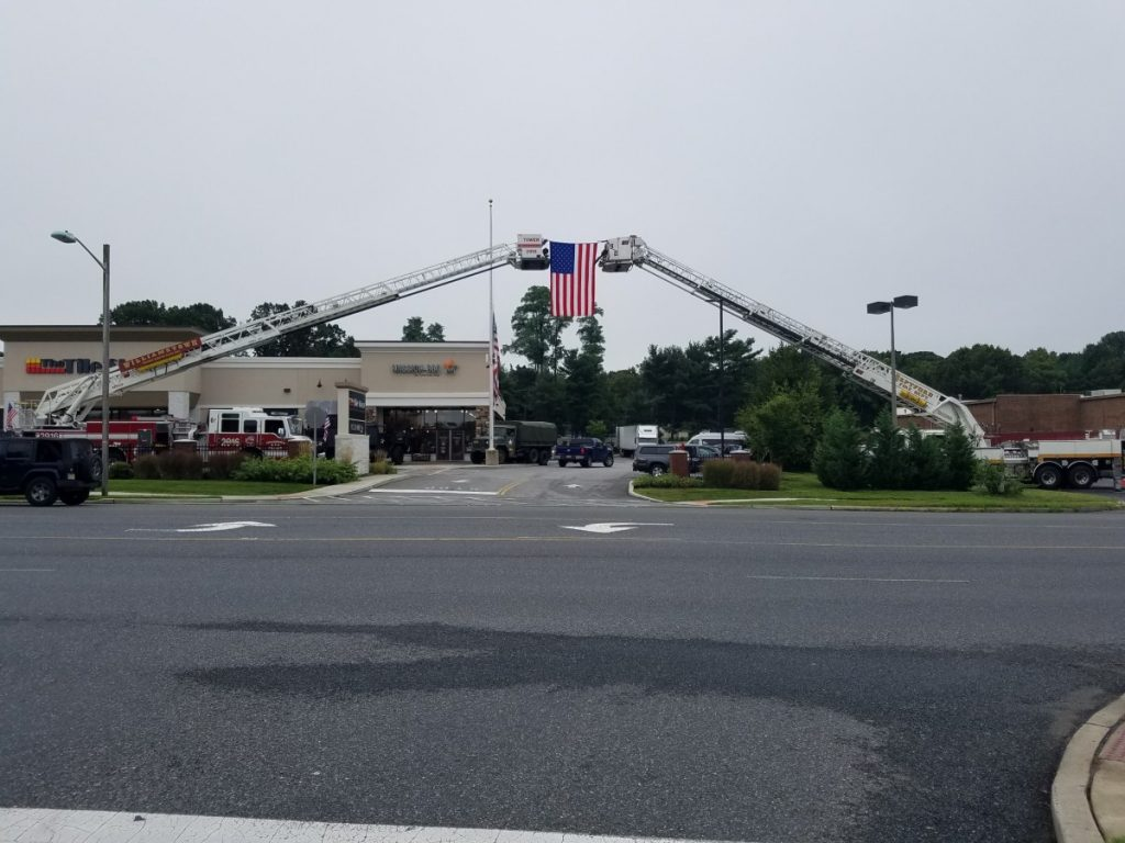 Tower 926 Assists with Flag Fly For September 11th Event