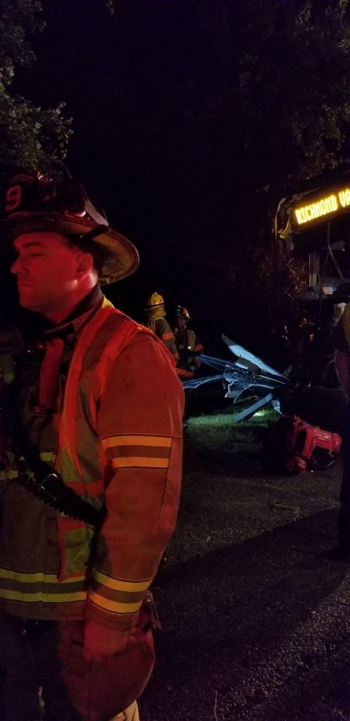 Squad 921 Responds To Greyhound Bus Vs Tractor Trailer Crash on the New Jersey Turnpike