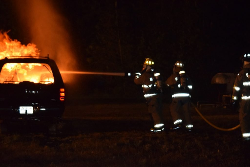 Tacoma Boulevard Members Drill On Car Fires At The Camden County Fire Academy