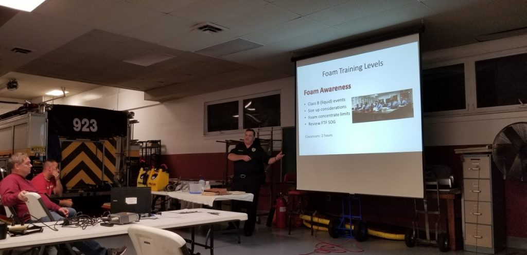 Tacoma Boulevard and Princeton Boulevard Stations Attend Foam Training